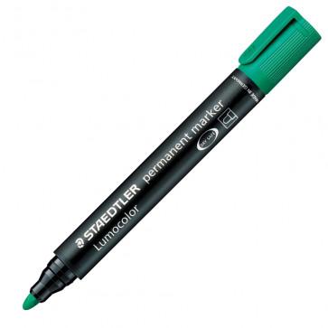 Marker permanent, 2mm, verde, STAEDTLER Lumocolor