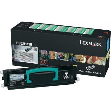 Toner, black, LEXMARK E352H11E