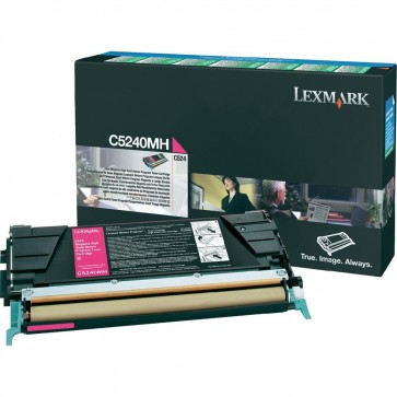 Toner, magenta, LEXMARK C5240MH
