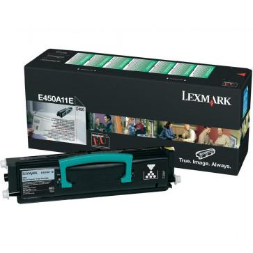 Toner, black, LEXMARK E450A11E