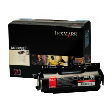 Toner, black, LEXMARK 64036SE