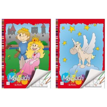 Carte de colorat, A4, 24 file, div. modele, HERLITZ