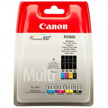 Cartus, C/M/Y/BK, 4 buc./set, CANON CLI-551 Multipack