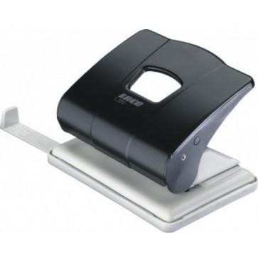 Perforator de birou, pentru maxim 25 coli, negru, LACO L350