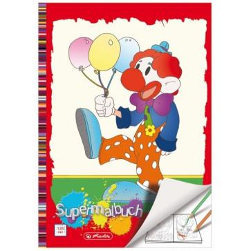 Carti de colorat, A4, 128 file, diverse modele, HERLITZ