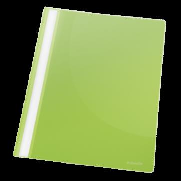 Dosar din plastic, cu sina, verde, ESSELTE VIVIDA