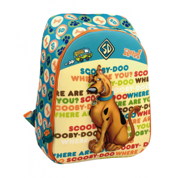 Ghiozdan, clasele 1-4, 1 fermoar, verde deschis cu galben, PIGNA Scooby Doo 3D