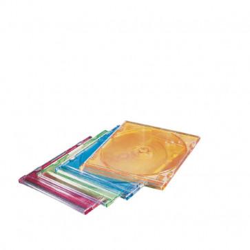Carcasa slim, pentru CD/DVD, diverse culori, 25 buc/set, ESSELTE