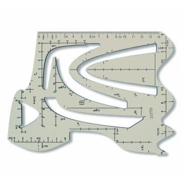 Sablon din plastic, functii matematice, 240 x 155mm, fumuriu, KOH-I-NOOR