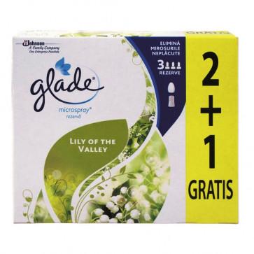 Odorizant de baie GLADE Microspray 2+1 Rezerva Lacrimioare