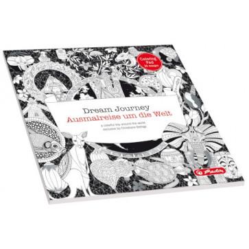 Carte de colorat adulti, zentangle. 24 file, HERLITZ