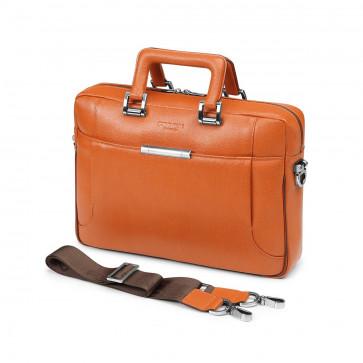 Servieta pentru laptop, din piele de bovina, portocaliu, FEDON 1919 Orion File-0
