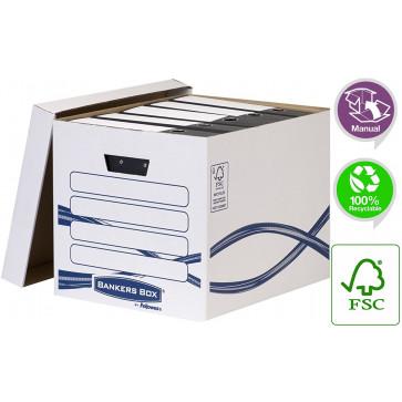 Container pentru arhivare, cu capac, 333 x 320 x 410mm, FELLOWES Basic