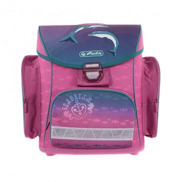 Ghiozdan ergonomic neechipat, HERLITZ Midi Dolphin Love