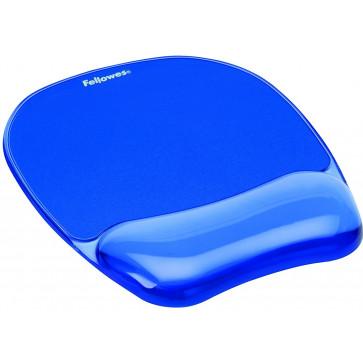 Mouse pad cu gel, albastru, FELLOWES Crystals