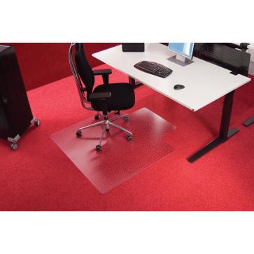 Protectie podea pentru covoare, forma U, 130 x 120cm, RS OFFICE EcoBlue