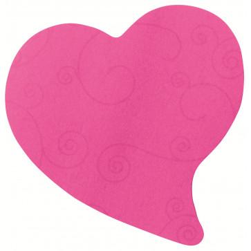 Notes autoadeziv in forma de inima, 2 x 75 file/pachet, roz, POST-IT Super Sticky 7350-H