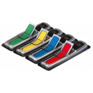 Index autoadeziv, din plastic, 12 x 43mm, 24 indecsi/culoare, 4 culori/set, POST-IT Sageata 683-4ARR3