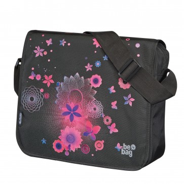 Geanta de umar, tip messenger, HERLITZ Be.Bag Pink Butterflies