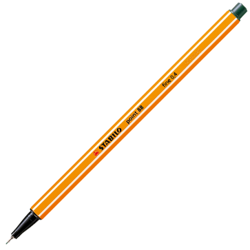 Fineliner, 0.4mm, verde inchis, STABILO Point 88-63