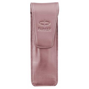 Etui 2 instrumente de scris, piele, roz, PARKER