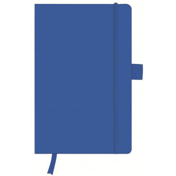 Bloc notes A5, velin, coperta din piele sintetica cu elastic, 96 file, albastru, HERLITZ My Book Classic