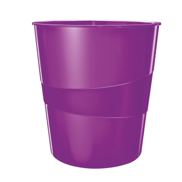 Cos de gunoi, 15 litri, mov metalizat, LEITZ WOW