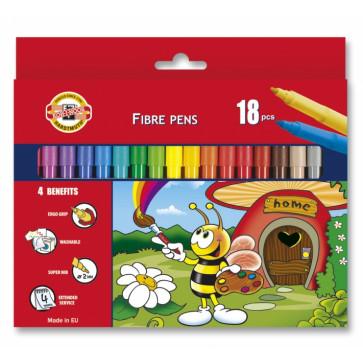 Carioci, 18 culori/set, KOH-I-NOOR Bees