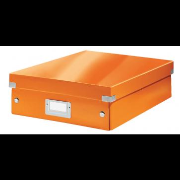 Cutie, medie, portocaliu, LEITZ Click & Store Organizer