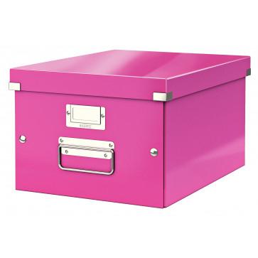 Cutie pentru arhivare, 281 x 200 x 370mm, roz, LEITZ Click & Store