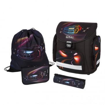 Ghiozdan ergonomic echipat, HERLITZ Midi Plus NightLiner