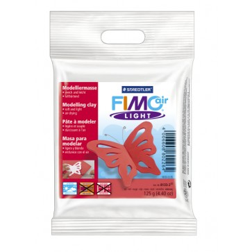 Plastilina pt. modelaj, 125gr, rosu (red), STAEDTLER Fimo Air Light
