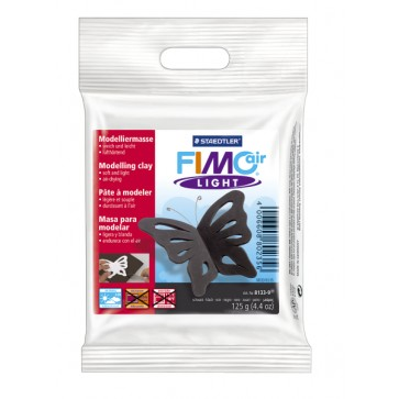Plastilina pt. modelaj, 125gr, negru (black), STAEDTLER Fimo Air Light