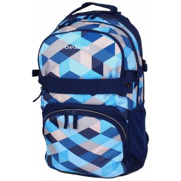 Rucsac ergonomic, HERLITZ Be.Bag Cube Blue Checked