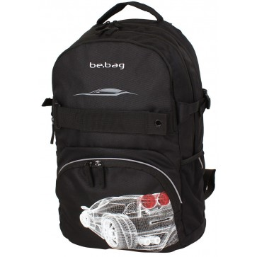Rucsac ergonomic, HERLITZ Be.Bag Cube Grid Car