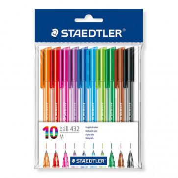 Pix fara mecanism, 10 culori/set, STAEDTLER Triplus