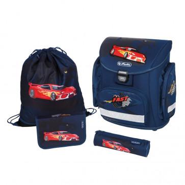 Ghiozdan ergonomic echipat, HERLITZ Midi Plus Red Panther