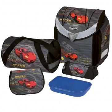 Ghiozdan ergonomic echipat, HERLITZ Flexi Plus Red Racer