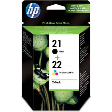 Cartus, black + color, Nr. 21/22, 2 buc./set, HP SD367AE