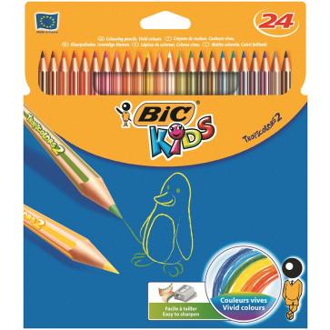 Creioane colorate, 1/1, 24 culori/set, BIC TROPICOLORS2