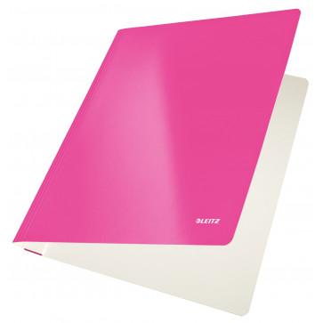 Dosar din carton, cu sina, 250 g/mp, roz metalizat, LEITZ WOW