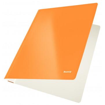 Dosar din carton, cu sina, 250 g/mp, portocaliu metalizat, LEITZ WOW