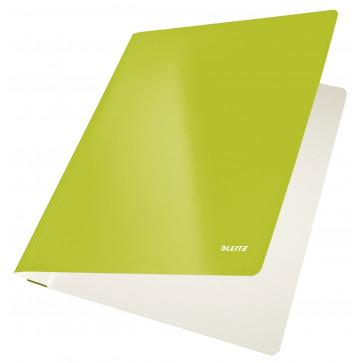 Dosar din carton, cu sina, 250 g/mp, verde metalizat, LEITZ WOW