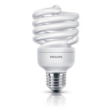 Bec economic 23W (100 W), Soclu E27, Lumina naturala rece, PHILIPS Twister