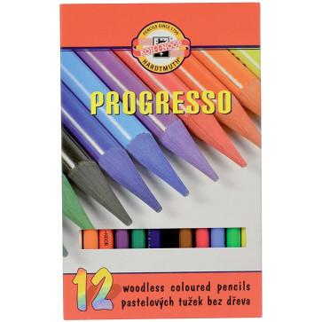 Creioane colorate, cerate, 12 culori/set, KOH-I-NOOR Progresso