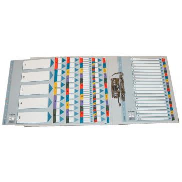 Separatoare din plastic, index Ianuarie-Decembrie, A4, ESSELTE Mylar