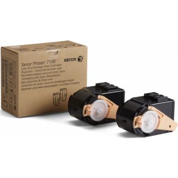 Toner, dual pack, cyan, XEROX 106R02609