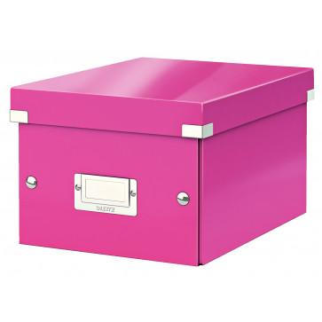 Cutie pentru arhivare, 216 x 160 x 282mm, roz, LEITZ Click & Store