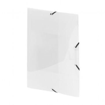 Mapa din plastic, alb, cu elastic, VIQUEL