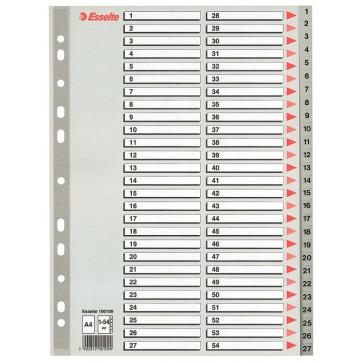 Separatoare din plastic, index 1-54, A4, ESSELTE